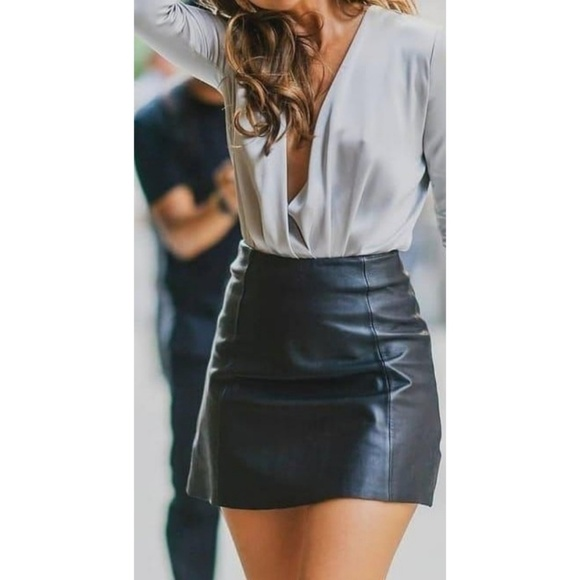 Leather Attractions com Dresses & Skirts - Leather Attractions.com Black Genuine Leather Mini